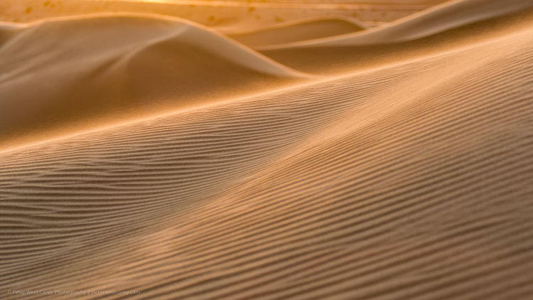 Waiting to Photograph Sunrise - sand dunes at sunrise