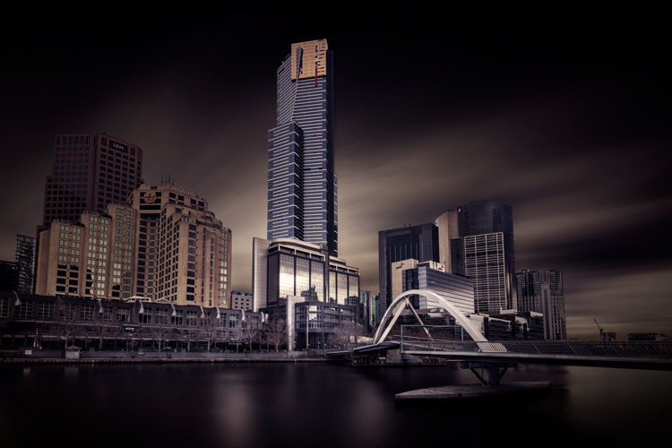 dark image of a city skyline - How Much is an Image Worth? Tips for Pricing Your Photography -