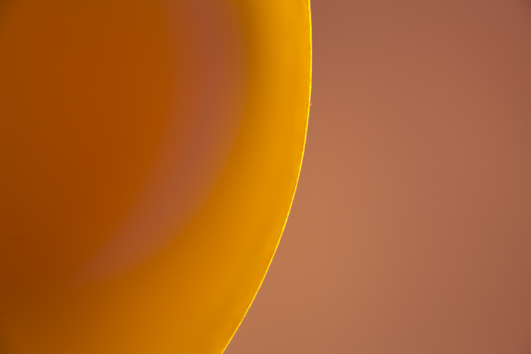 Creating Abstract Photos with Colored Paper - orange circle abstract
