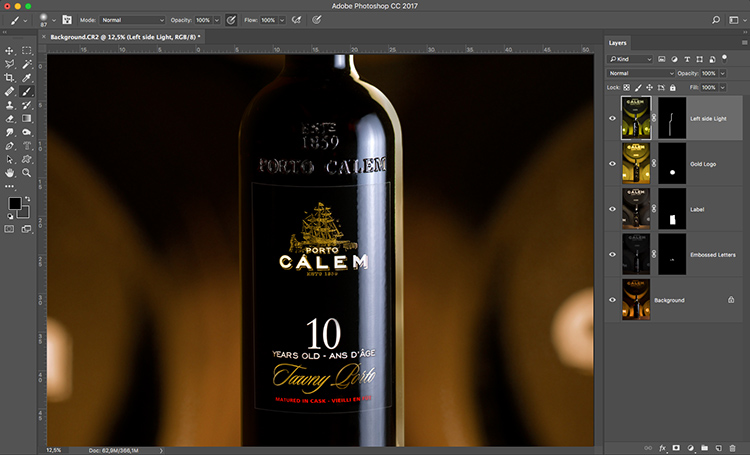 Photograph wine bottle composite 07