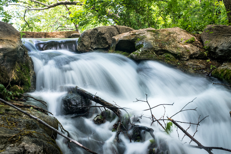 How to Create Silky Smooth Water Effects - waterfall over a brook