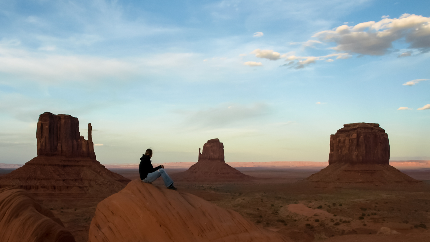 Image: This is Monument Valley during the beautiful evening light.