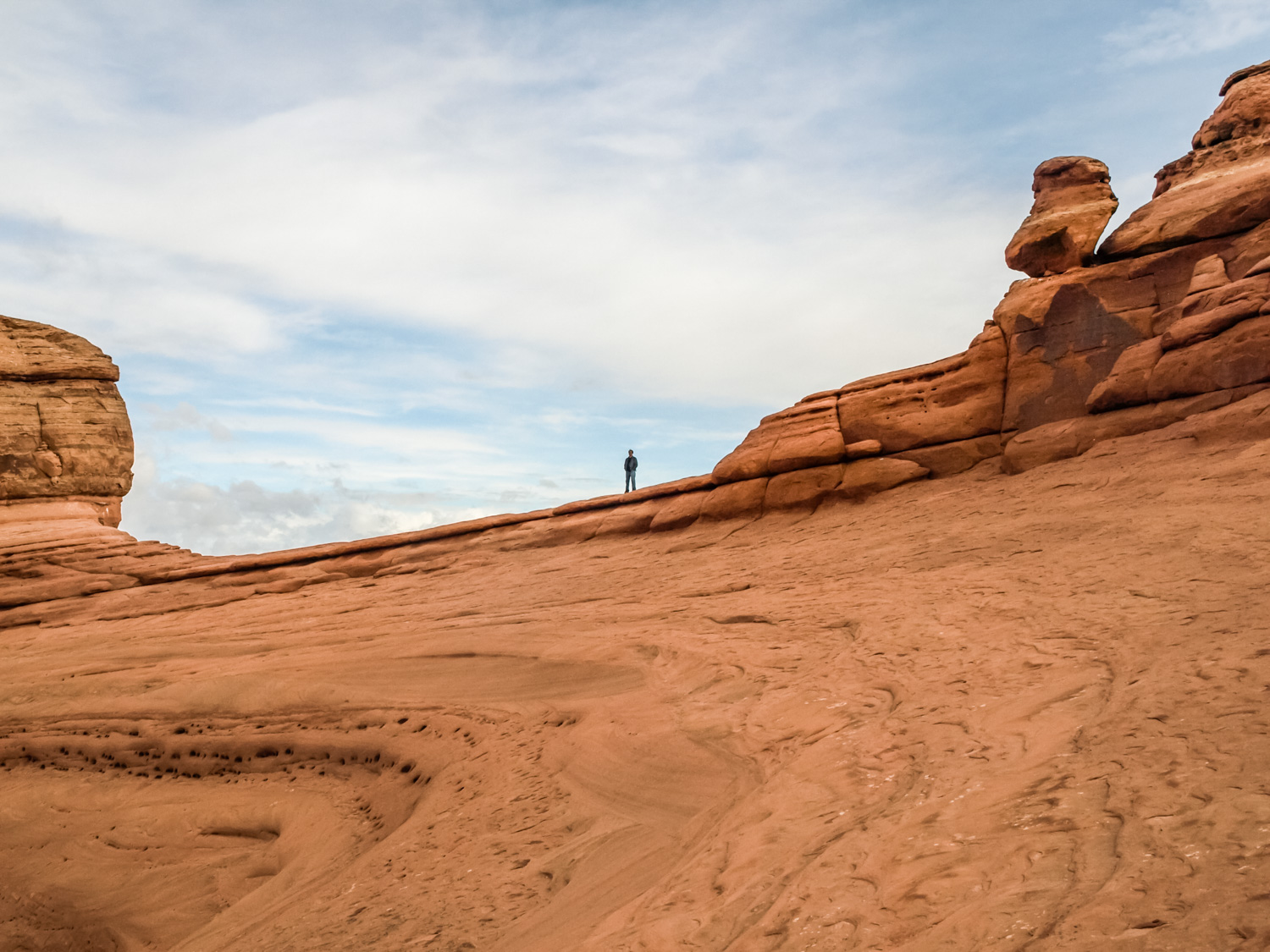 Image: When you're among the massive rock formations in Utah, you feel very small and vulnerable.