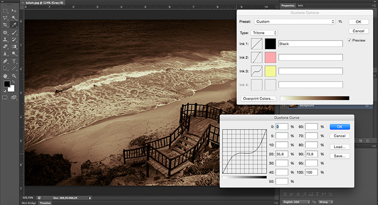 Duotone Curves Tonal Effects Photoshop Tutorial