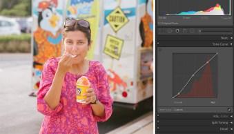 Karthika Gupta Photography - Memorable Jaunts DPS Article- Color Adjustment in Lightroom Girl eating summer icecream