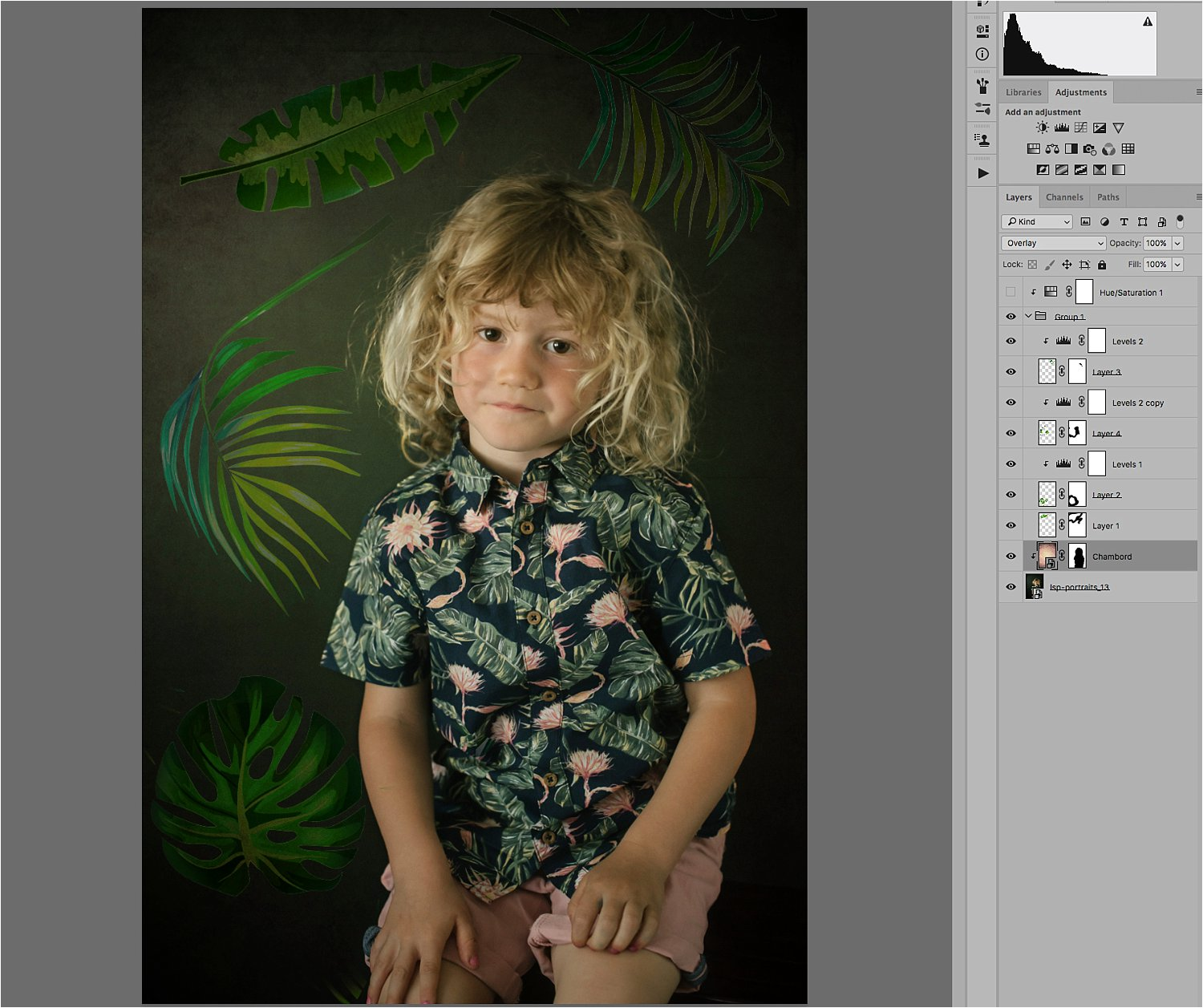 Basic Photoshop Tutorial - How to Add a Texture Overlay to Your Portraits