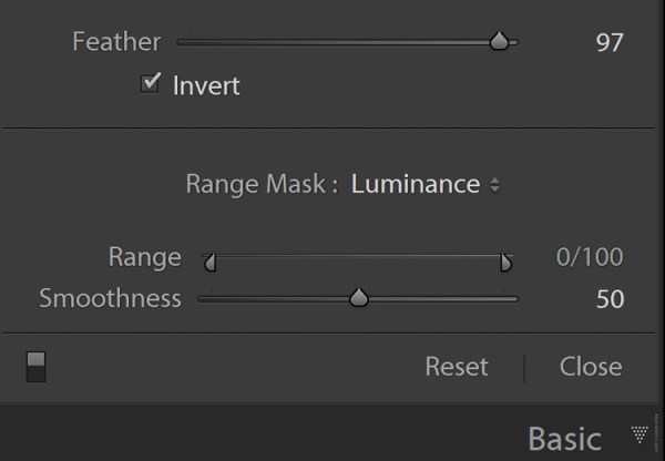 luminance slider - An In-Depth Look at the Range Mask in Lightroom Classic CC