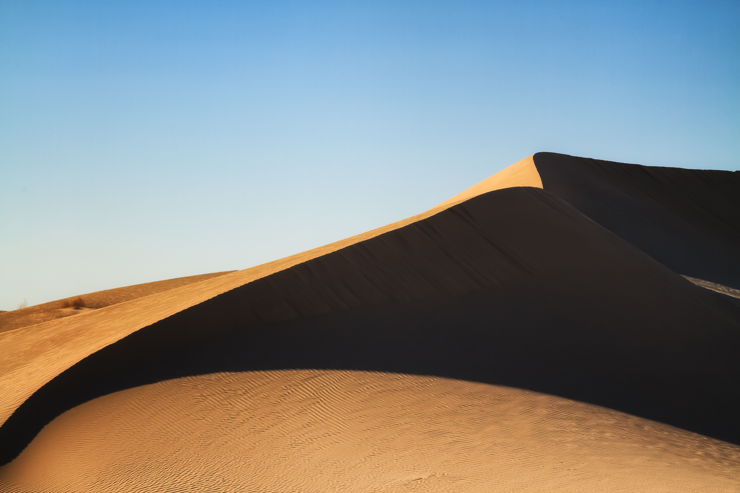Shadow on the Dunes - Beginner's Guide to Natural Light in Landscape Photography