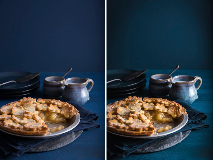 Image: The difference between the before and after images is subtle but processing your food images...