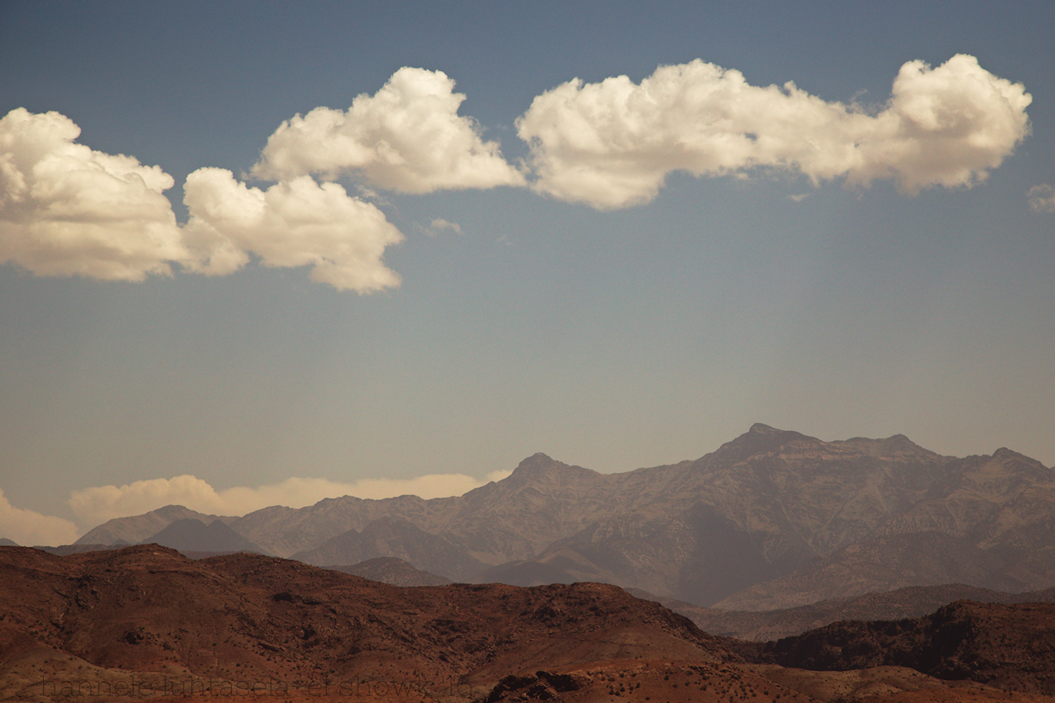 A mountain landscape seen from a highway in Morocco. Tips for Taking Better Pictures from a Moving Vehicle