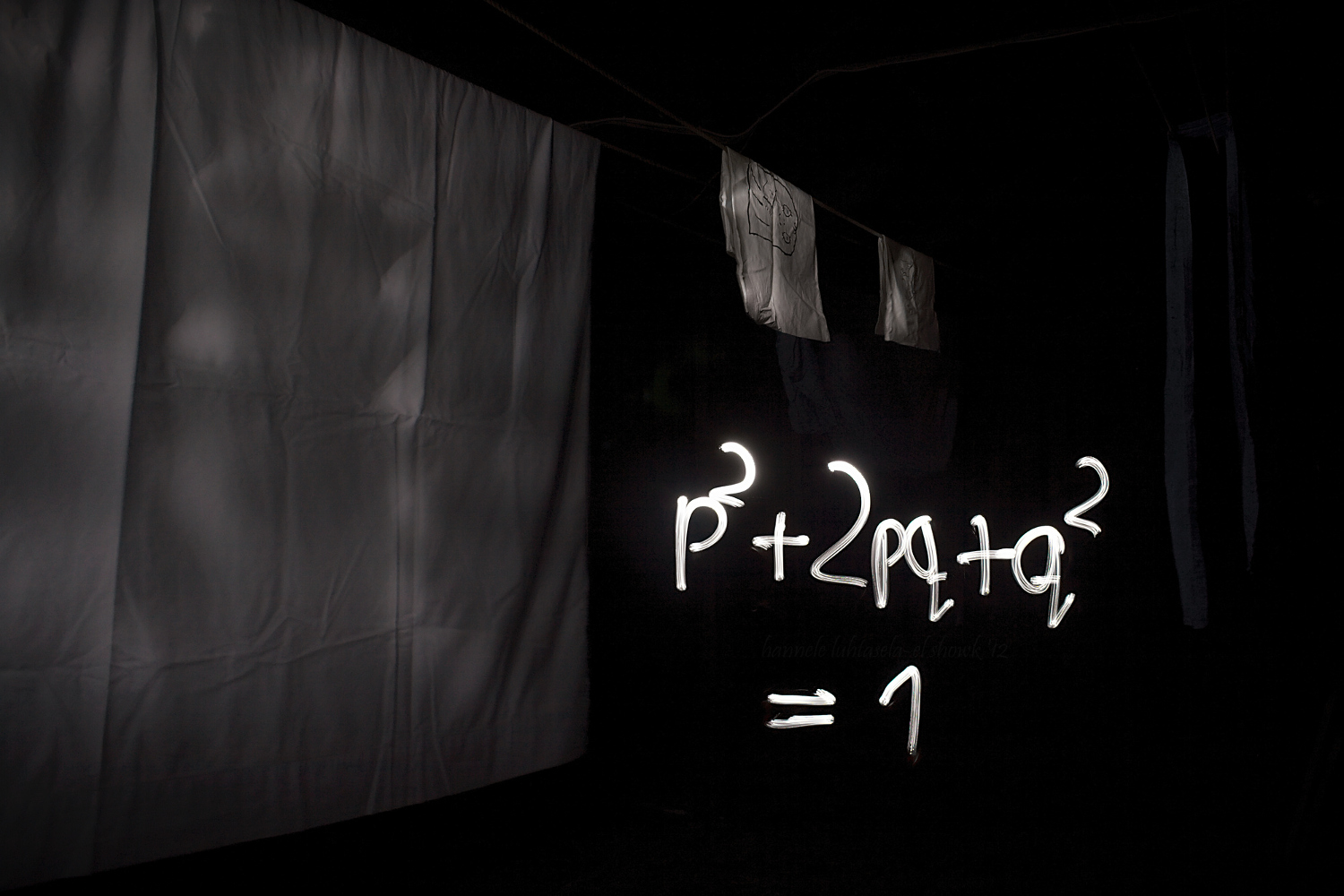 Light painting scribbling in the attic: the Hardy-Weinberg equation.