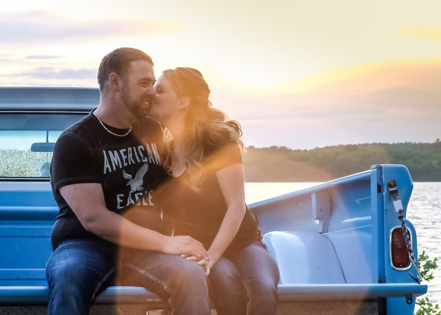 portrait of a couple on a truck - Wedding Photography Tip - 3 Ways to Tame a Bridezilla