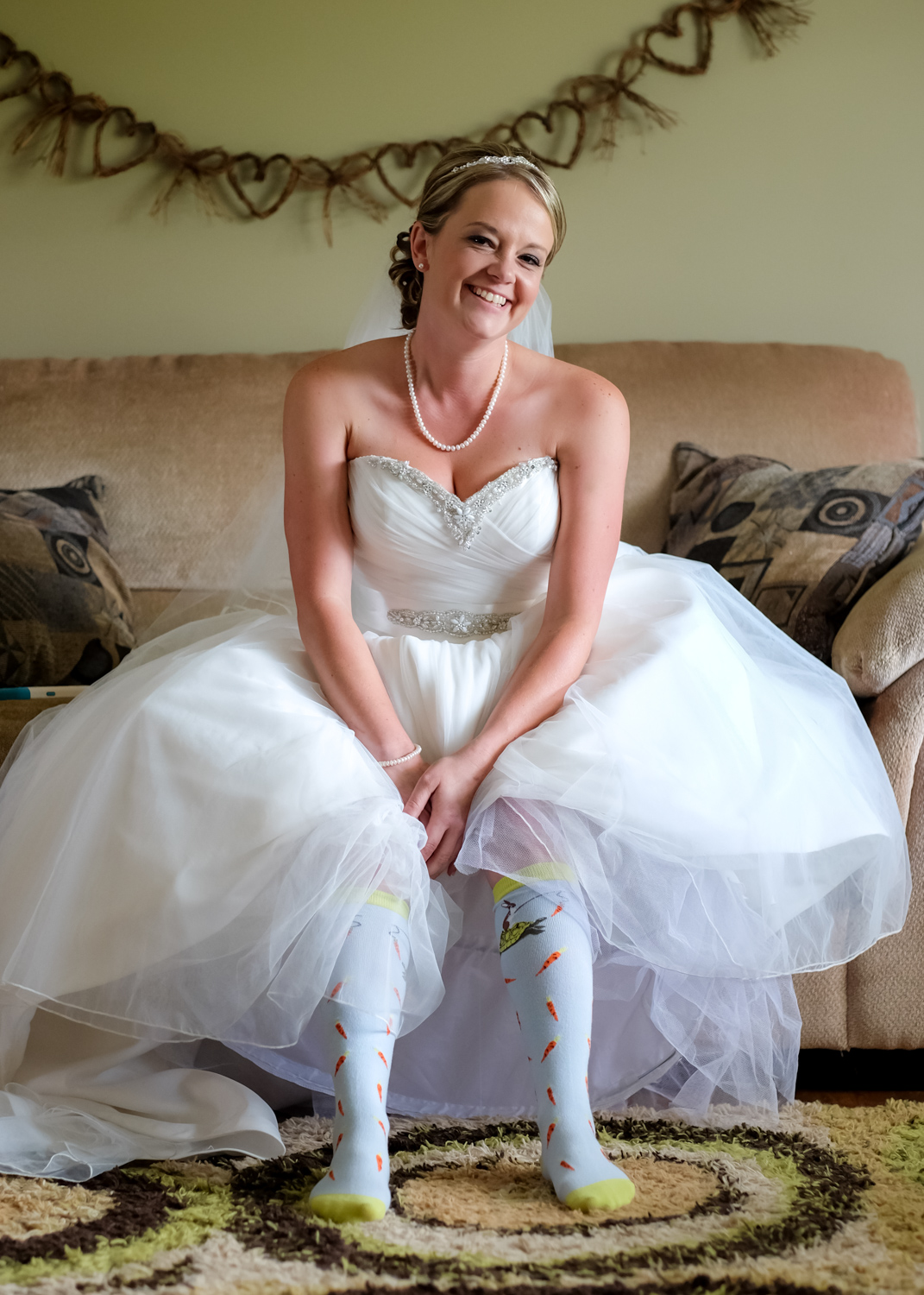 bride in funky socks - Wedding Photography Tip - 3 Ways to Tame a Bridezilla