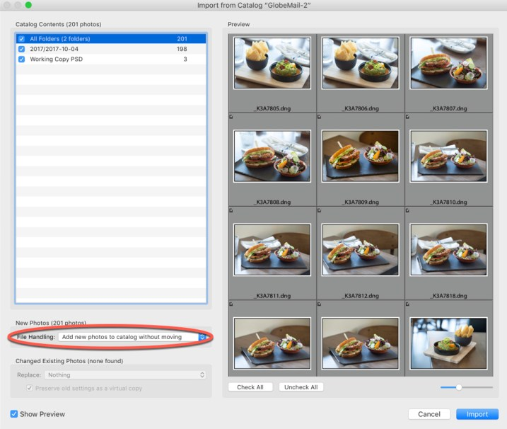 Import from Catalog - How to Merge Multiple Lightroom Catalogs Into One