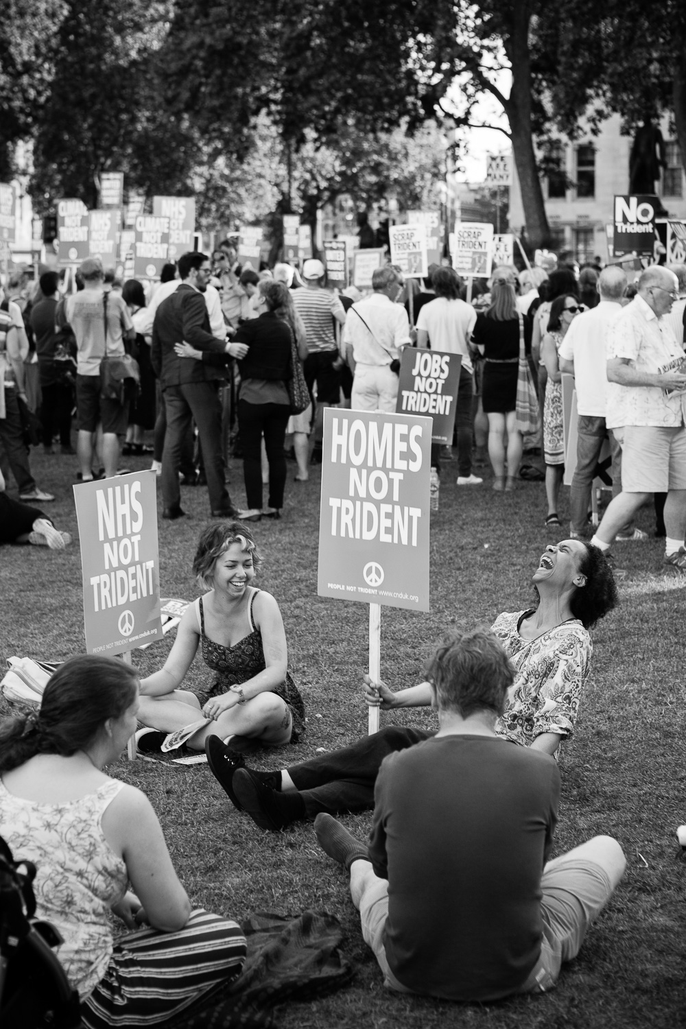 protestors in the park - Documentary Photos
