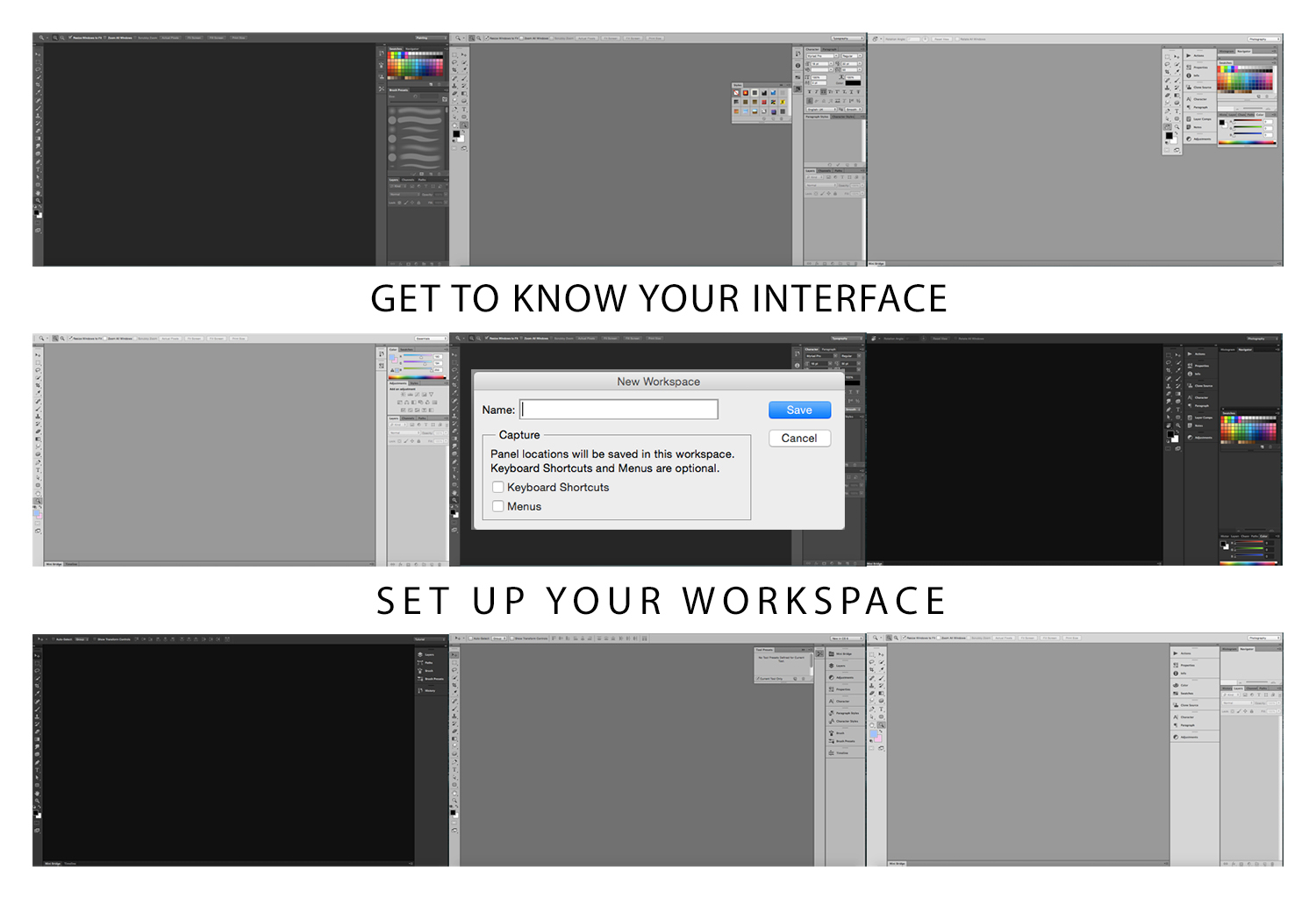 Photoshop interface - Get to Know Your Interface Setup Your Interface