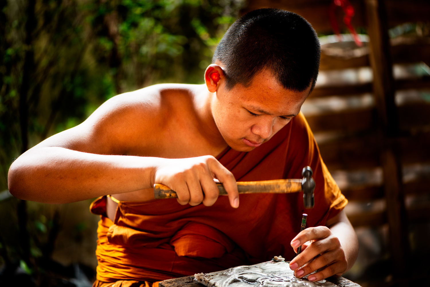 Buddhist monk making art - Tips for Culling Your Photos