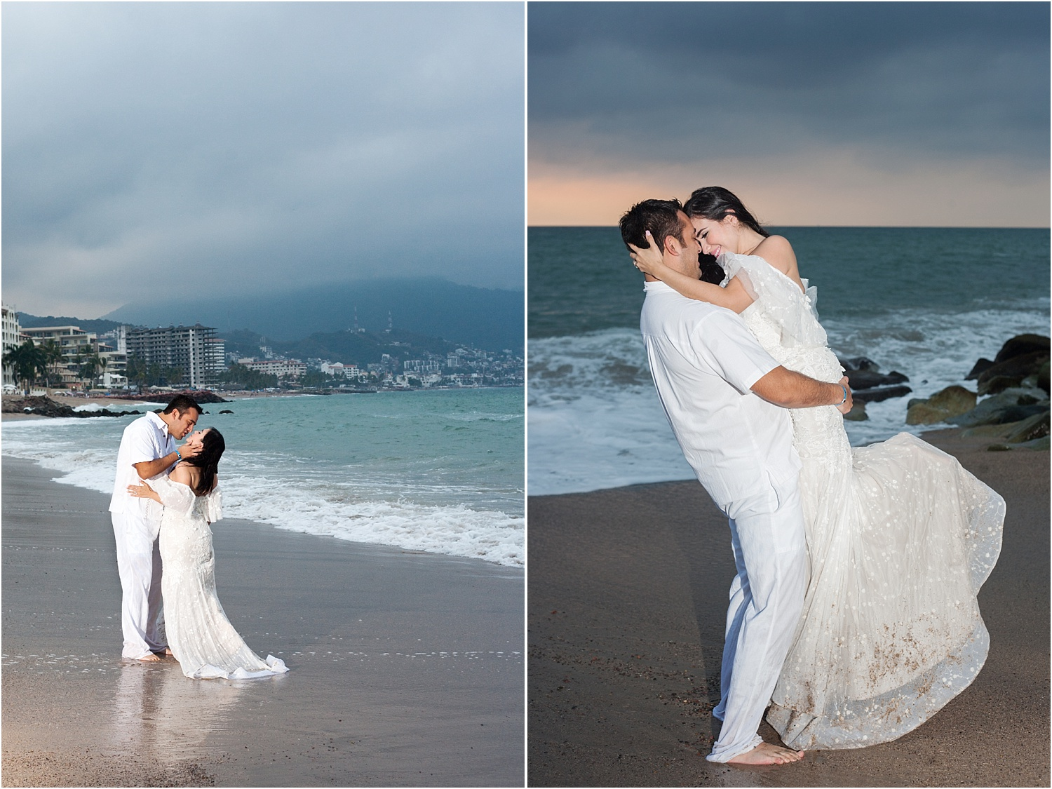 wedding portraits by the ocean - Using Flash for Beach Portraits