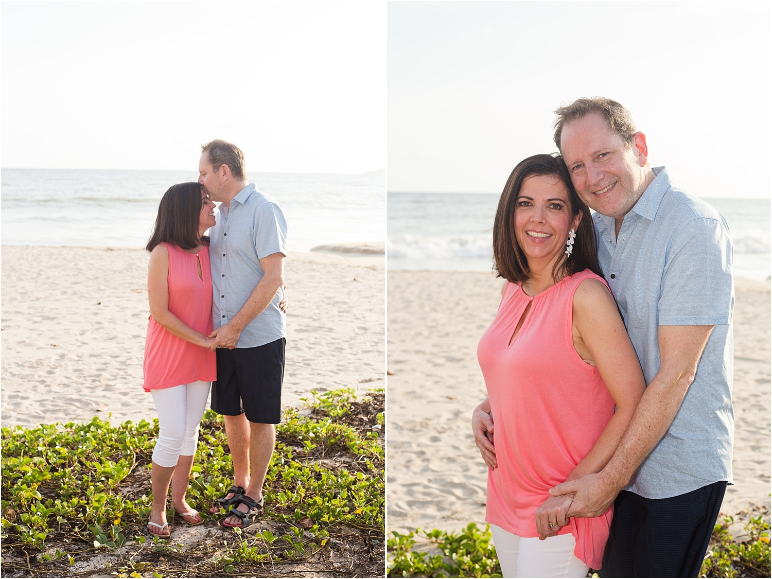 couple's portrait on the beach - Using Flash for Beach Portraits