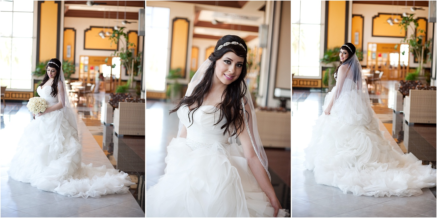 bride in three poses - Tips for Better Bridal Portraits