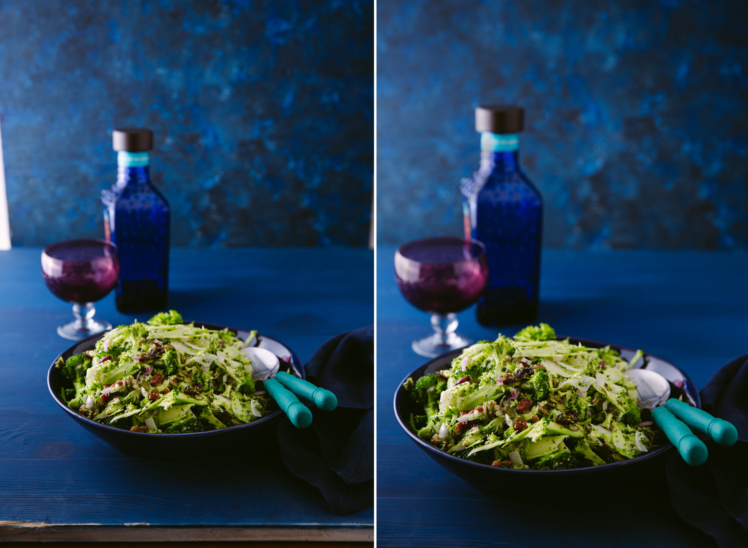 Image: This food image was shot at 50mm (left) and another shot at 60mm (right). You can see the 50m...
