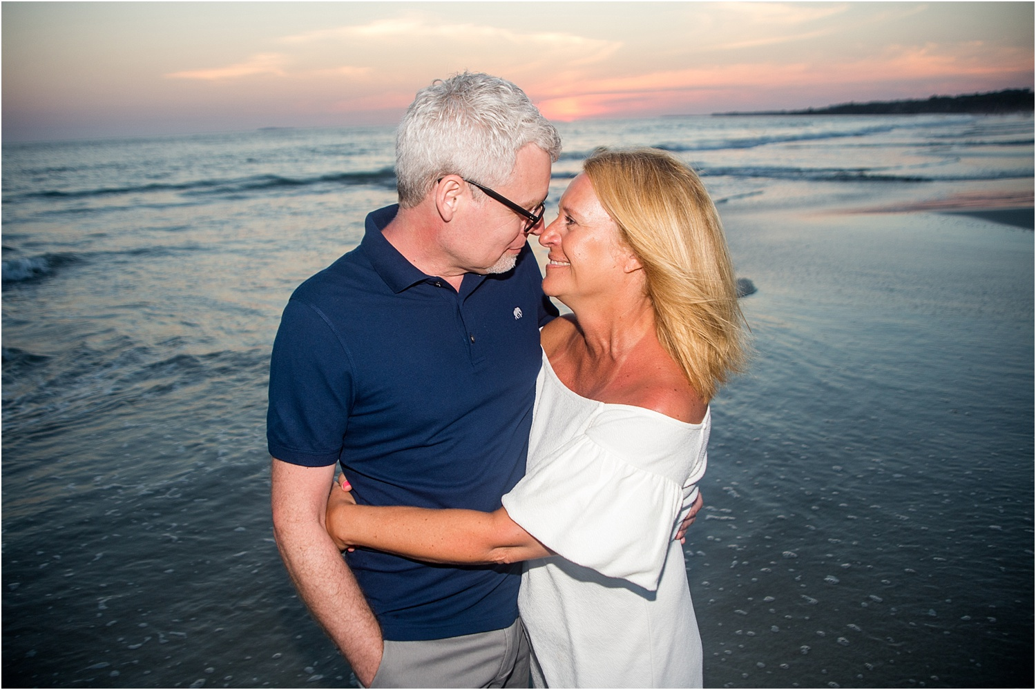 couple at sunset - Using Flash for Beach Portraits