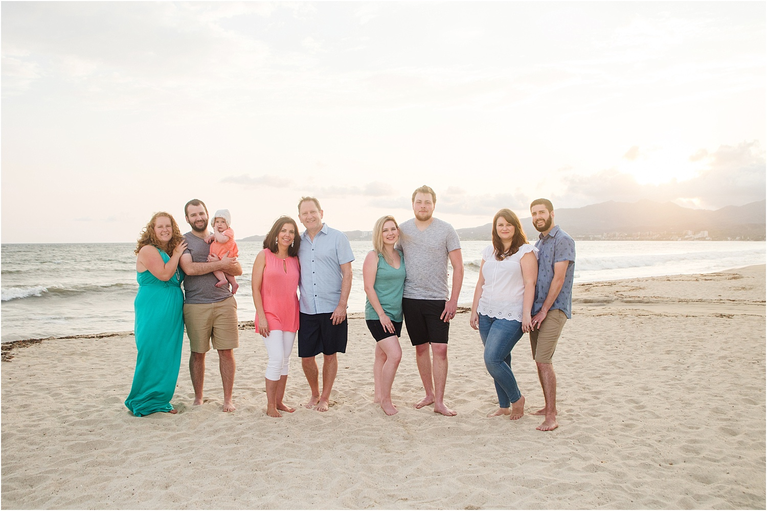 Using Flash for Beach Portraits - family portrait on the beach