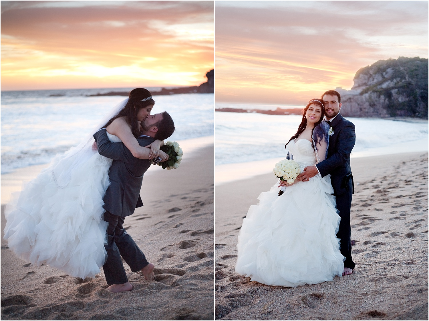 wedding couple on the beach - Using Flash for Beach Portraits