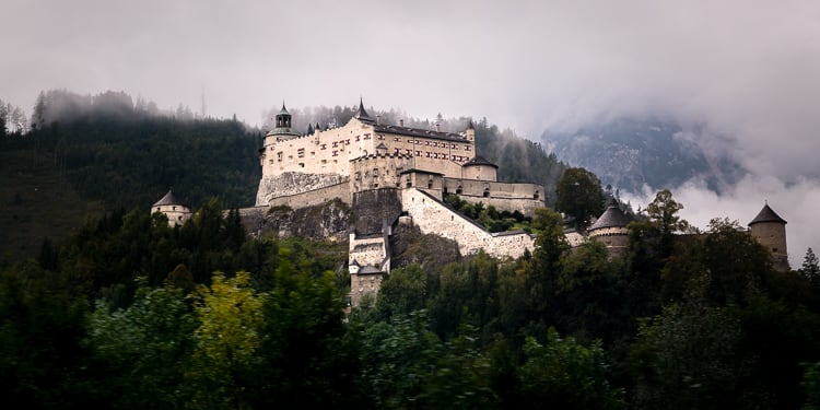 Hohenwerfen castle - How to Use Neutral Tones to Craft Realistic Edits for Landscape Photos