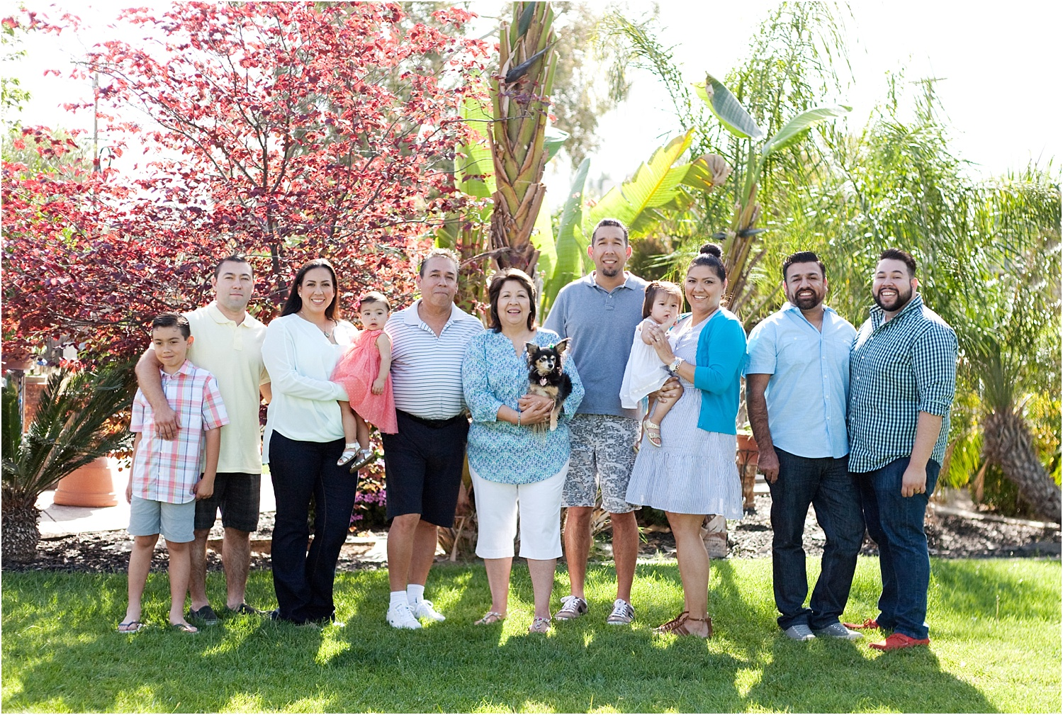 Tips for Posing Large Families and Groups - large family in front of trees