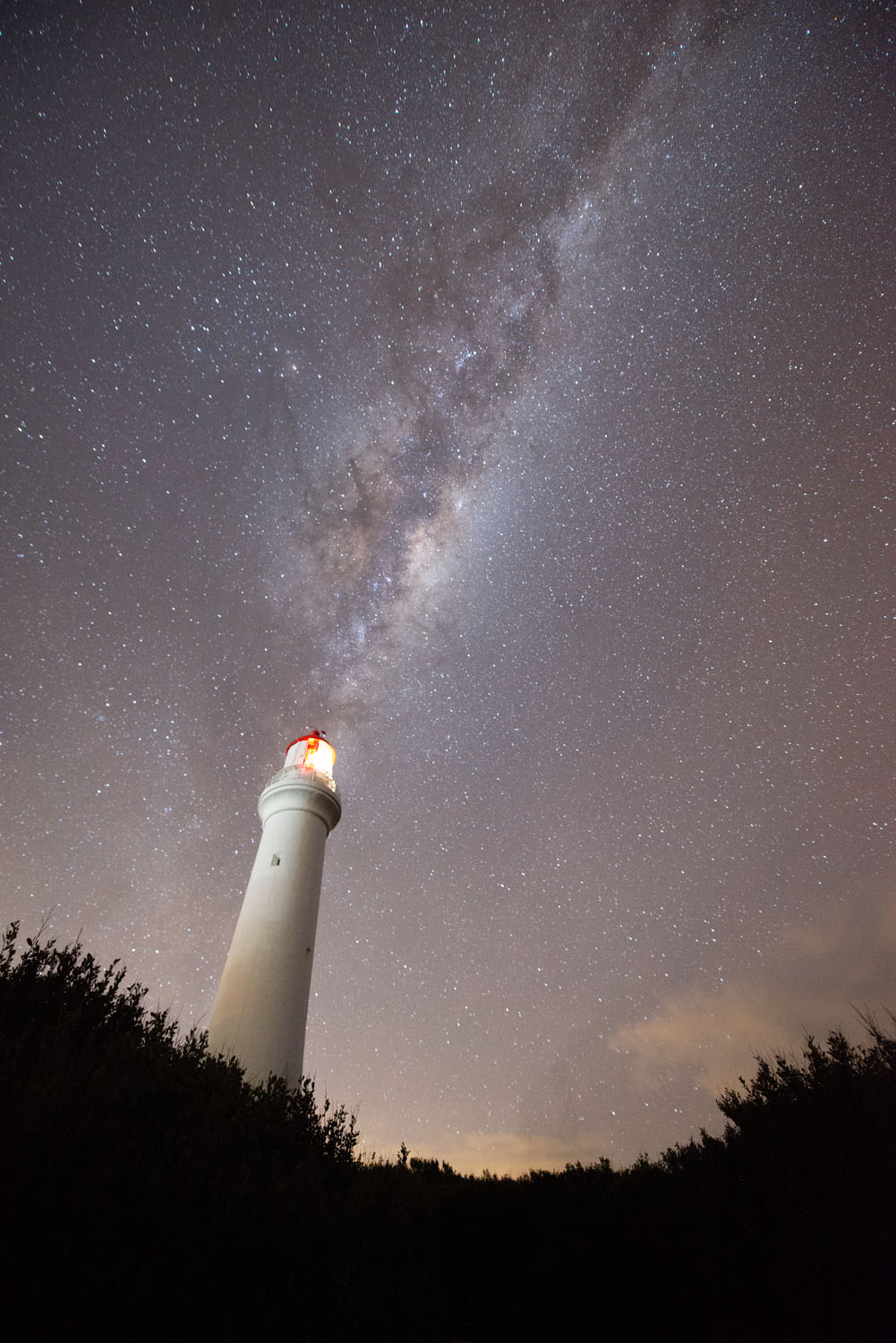 night image Milky Way and lighthouse - Tips for Processing Night Photography with ON1 Photo RAW 2018