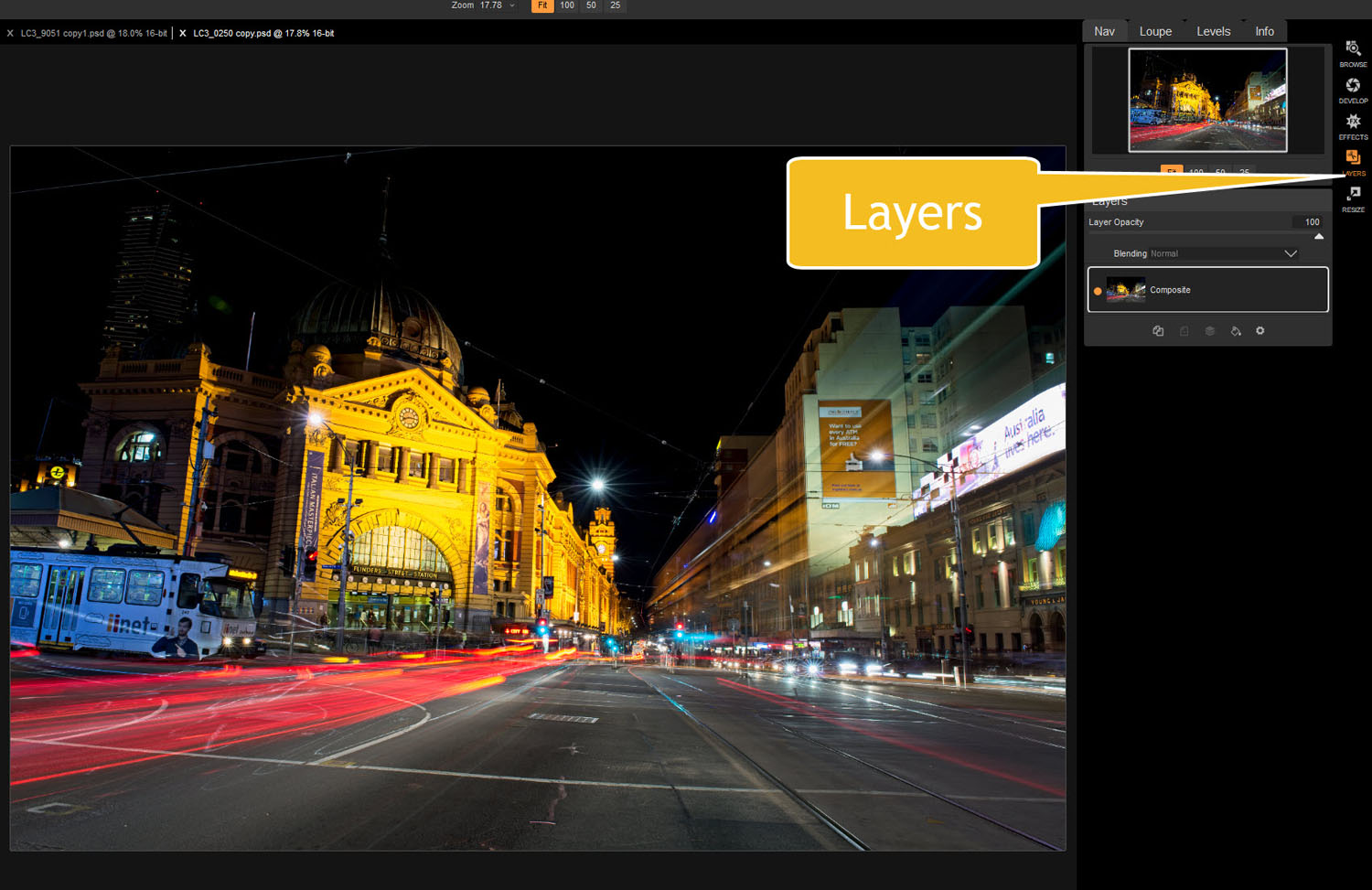 layers - Tips for Processing Night Photography with ON1 Photo RAW 2018