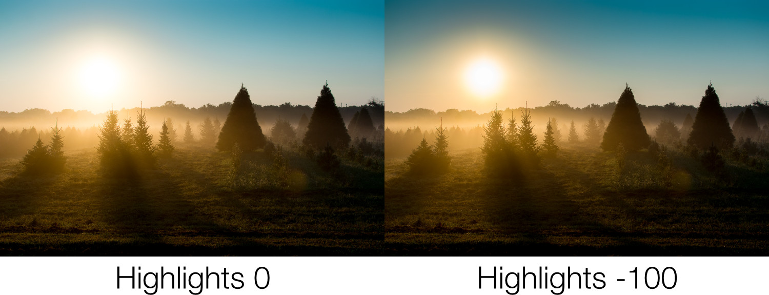 Highlights slider - Unlocking the Power of the Basic Panel in Lightroom