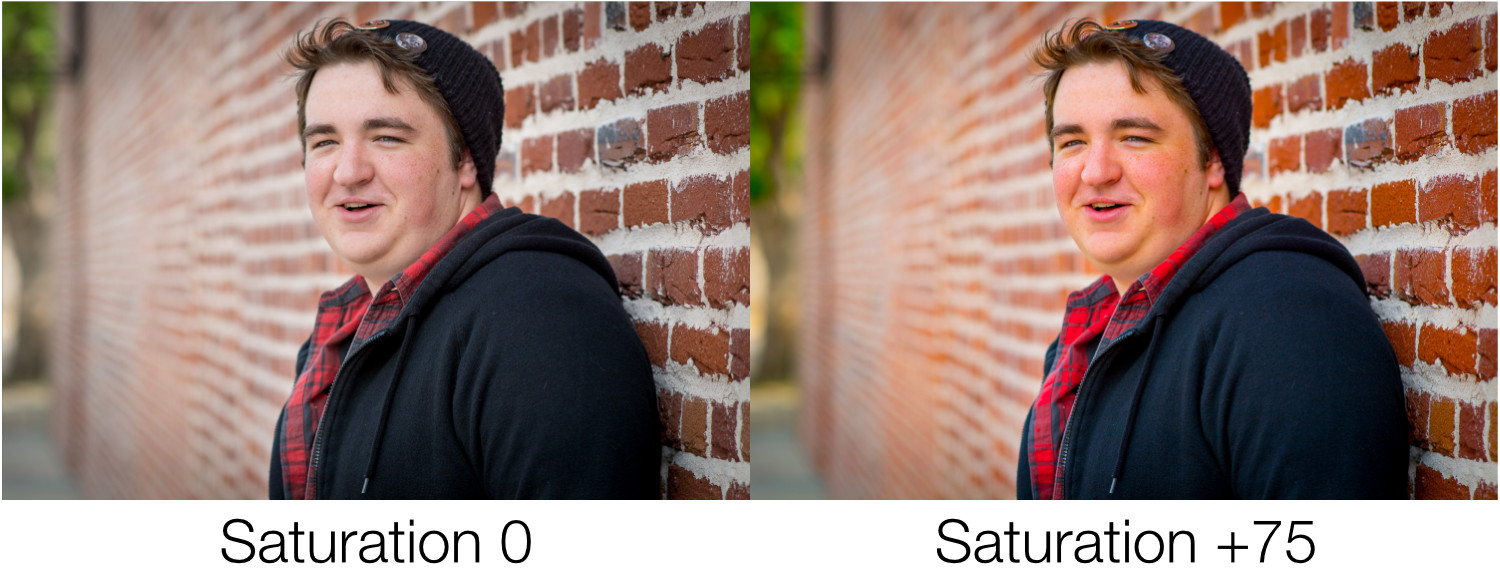 saturation on a portrait - Unlocking the Power of the Basic Panel in Lightroom