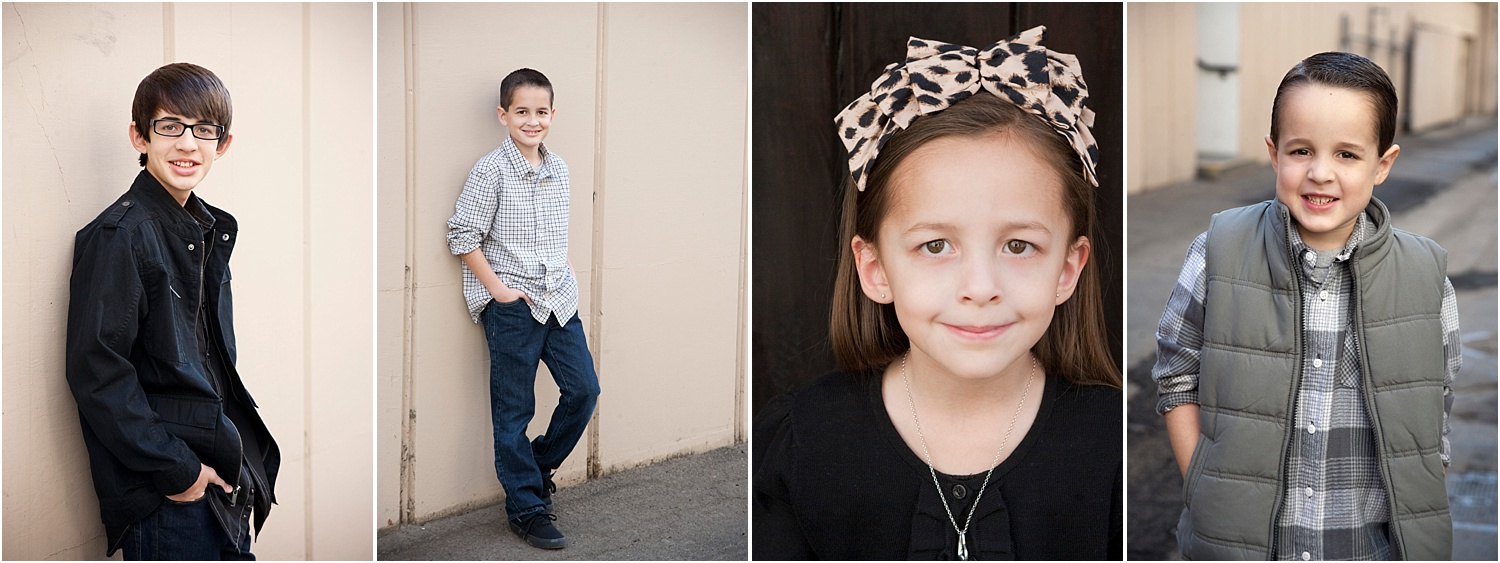 Tips for Posing Large Families and Groups - individual photos of kids