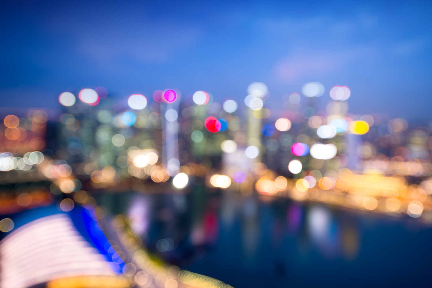 Singapore - Out of Focus Cityscape Bokeh Images