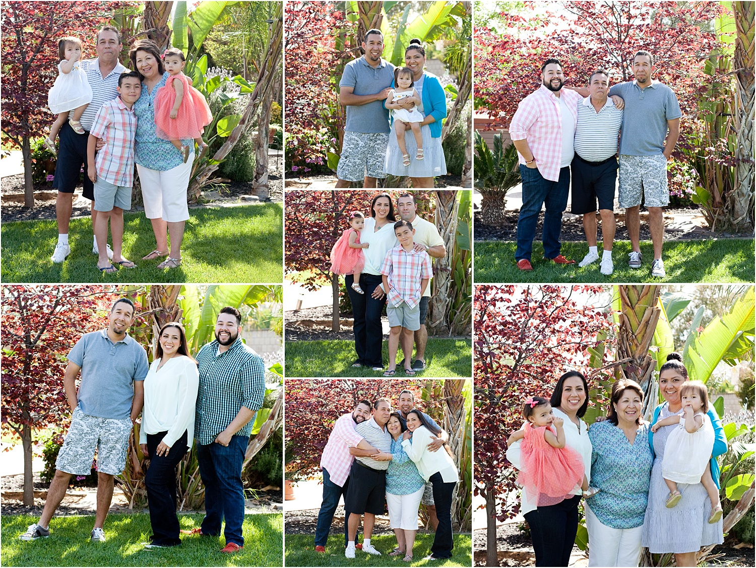 Tips for Posing Large Families and Groups - different group posing options