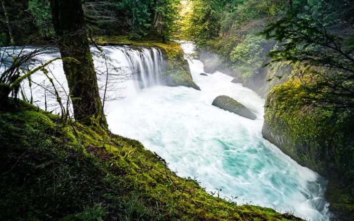 Spirit falls - How to Use Neutral Tones to Craft Realistic Edits for Landscape Photos