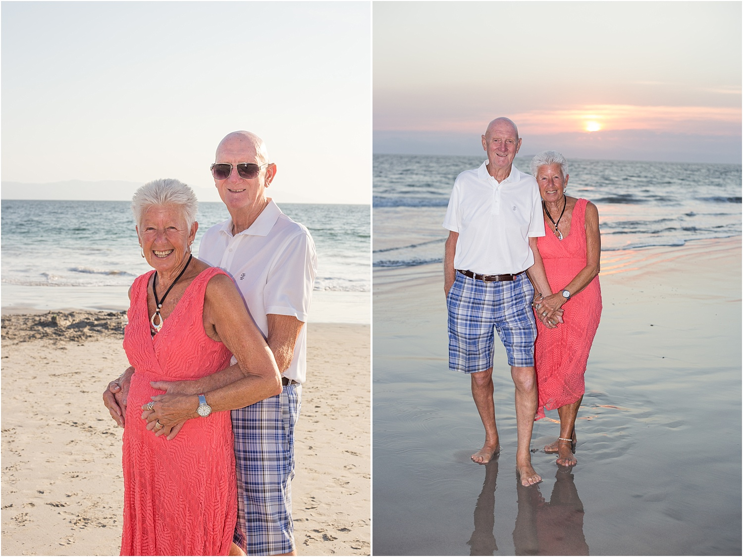 portrait of an elderly couple - Using Flash for Beach Portraits