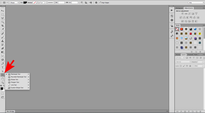 image-filled shapes Photoshop tutorial Shape Tool