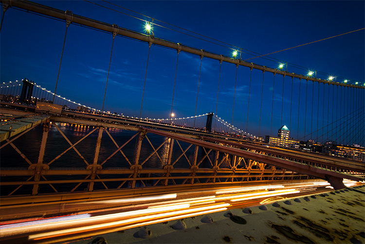 Image: Car light trails – this image is a combination of several frames shot to capture more l...