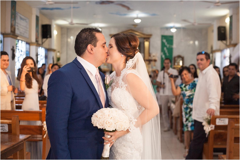 couple kissing - wedding day photography