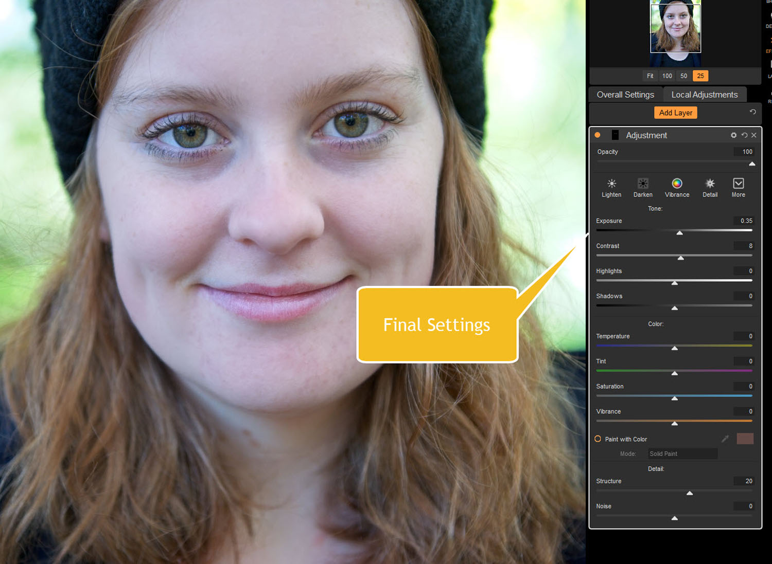 Tips for Portrait Processing with ON1 Photo RAW 2018 - eye settings