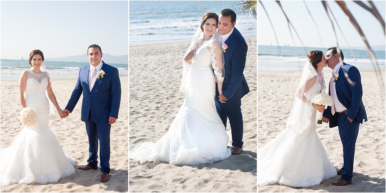 bride and groom on the beach - How to do Portrait photography in Bright Midday Sun