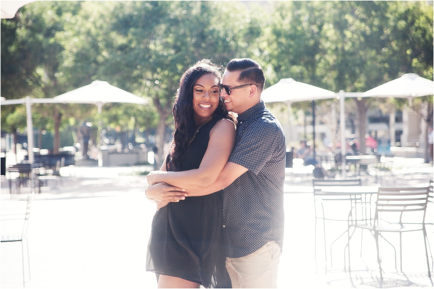 couple in black - How to do Portrait photography in Bright Midday Sun
