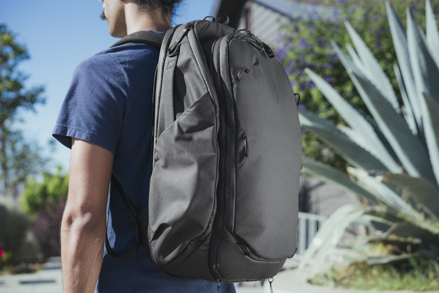 Image: Snaps at the top allow the bag to shrink in size, but it's still pretty large and cumbe...