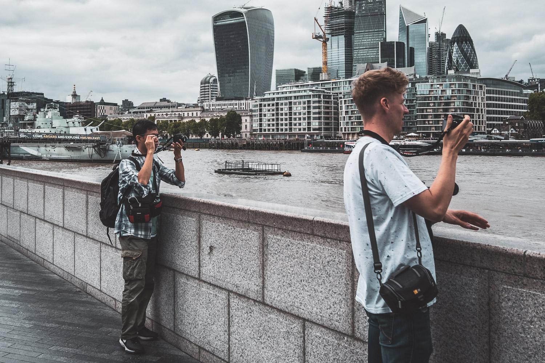 Tourists street photography