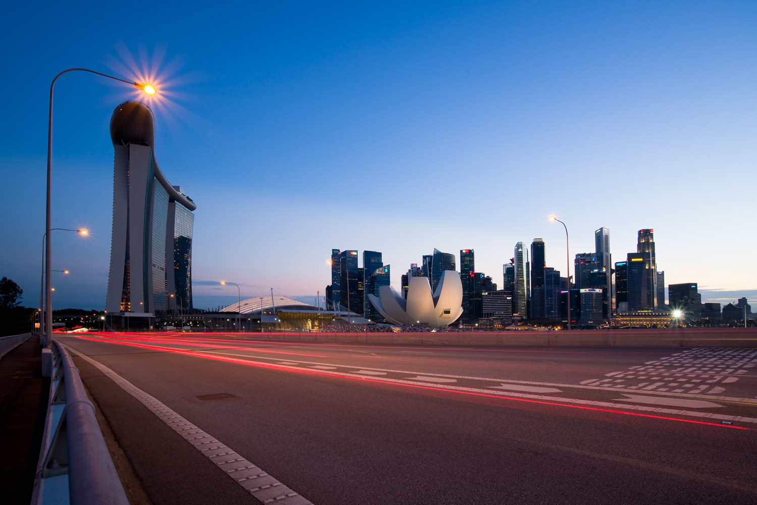 Singapore - Using Neutral Density Filters for Cityscape Photography at Blue Hour