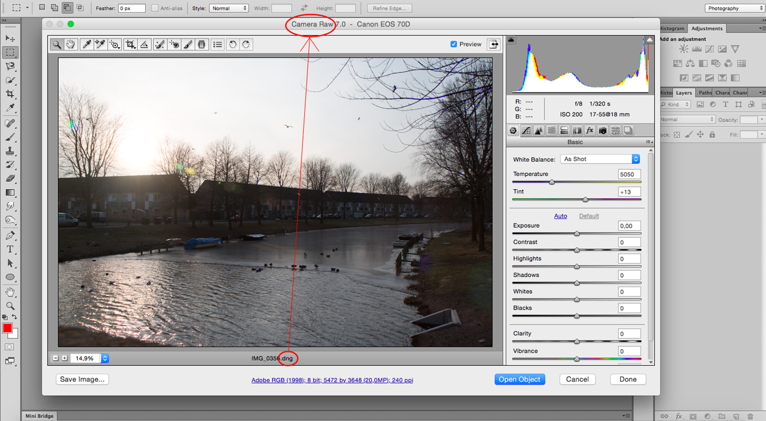 Balance Exposure in Adobe Camera Raw to Improve Your Photographs - Open File