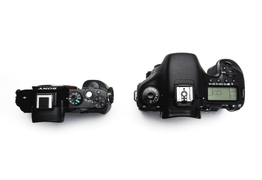 Image: The Sony A7R MK1 (left) and the Canon 7D MK1 (bodies only).